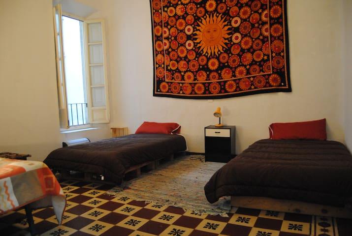 Habitación con dos camas - Granada - Bed & Breakfast