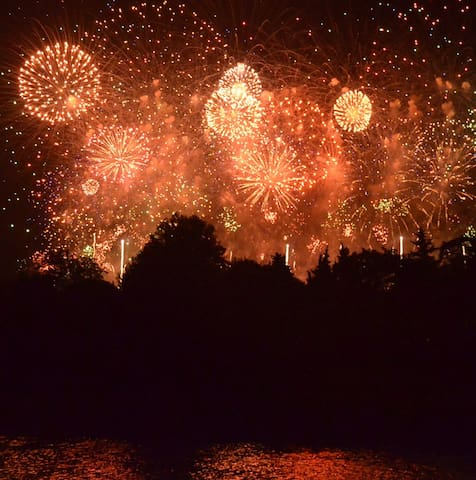 If you're here for 14 July there are fireworks everywhere!  These are at Carcassonne - Le Cite.
