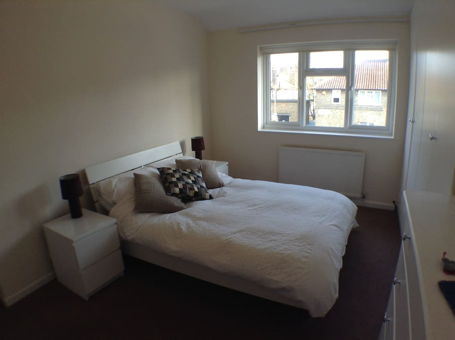 Large double bedroom - loads of storage