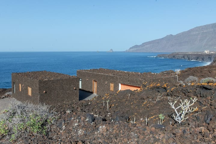 UNIQUE VOLCANIC HOUSE BY THE SEA