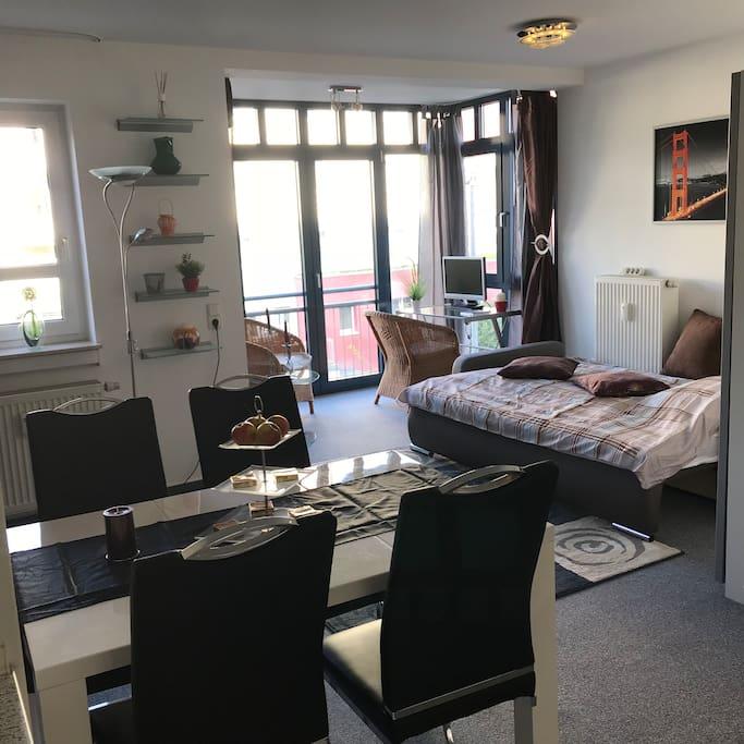 Geräumige Luxus Suite mit viel Komfort, auf großzügigen 35 m².