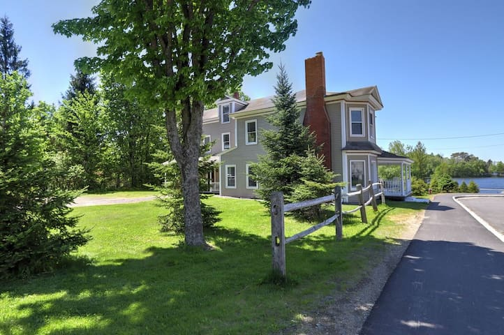 Village Walk - Private waterfront home right in downtown Rangeley