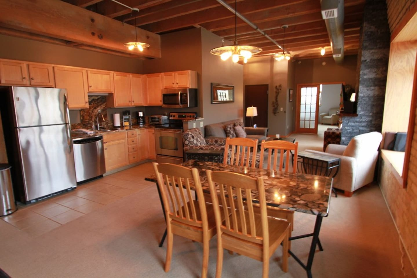 Captain`s Canal Park is a modern loft suite located in the heart of Canal Park in Duluth.