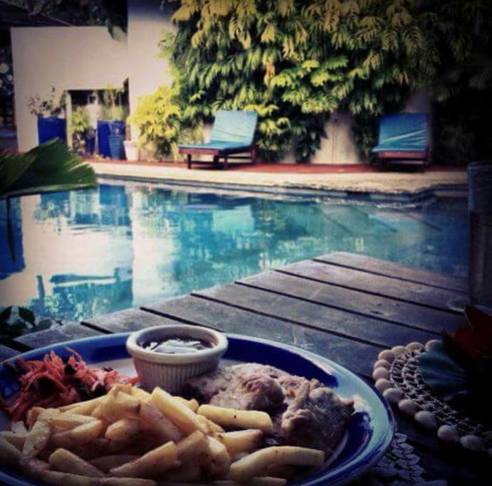 Meals by the pool