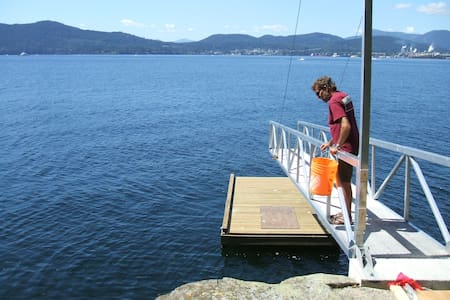 Cozy cabin on water front property; with dock. - Salt Spring Island