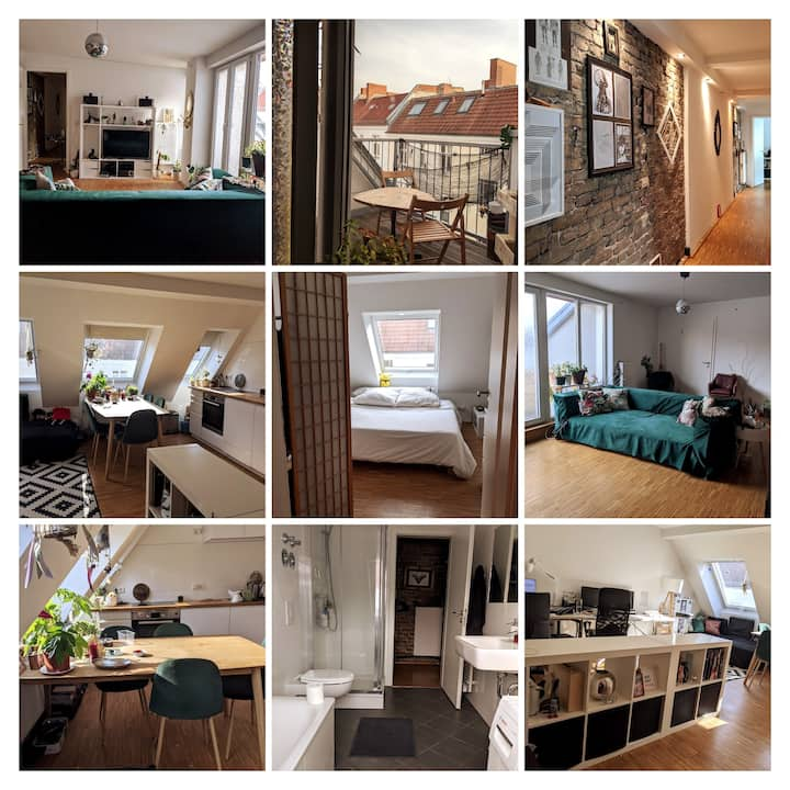 Charming and Spacious Penthouse in Prenzlauer Berg