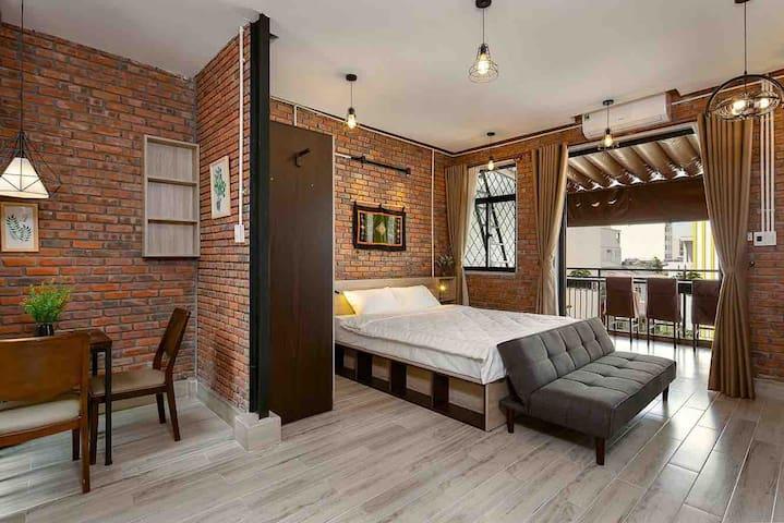 4F1V♦️Top floor(4th)Studio apartment best balcony ✅