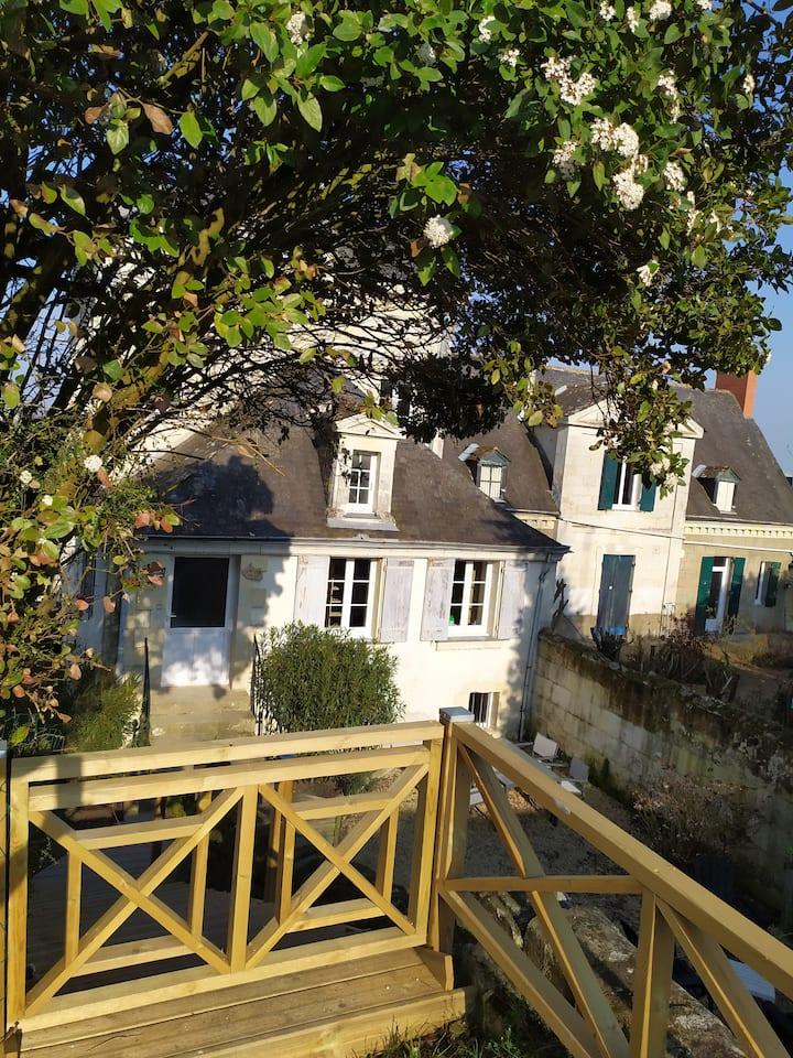Gîte 2/4 pers. sur le trajet de la Loire à Vélo