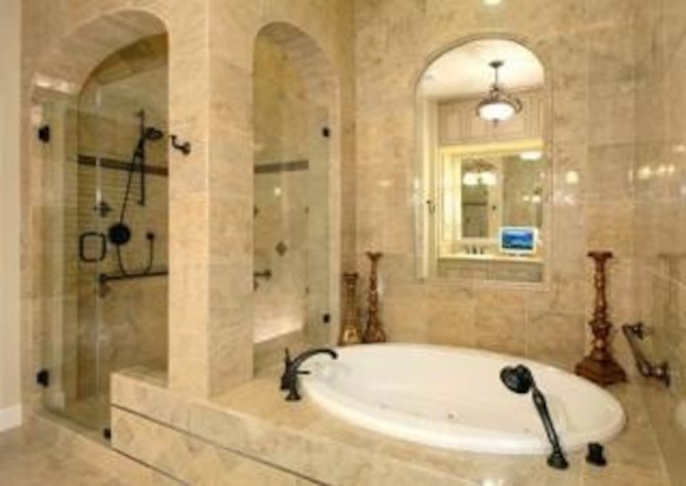 Shower and Jacuzzi Tub.