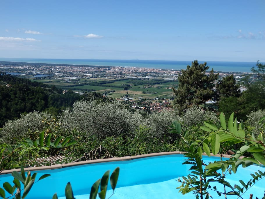WEST : - Breathtaking view from sea to Alps - View of Elba, Capraia, Gorgona isles up to Corsica isle