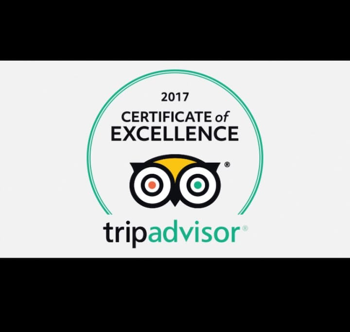 We have been awarded the certificate of excellence 2017