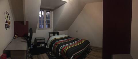 Chambre privee au calme à Etrelles près de Vitré