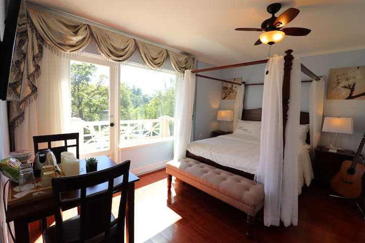 NEW MODERN BEDROOM W BALCONY @ ELEGANT WATERFRONT
