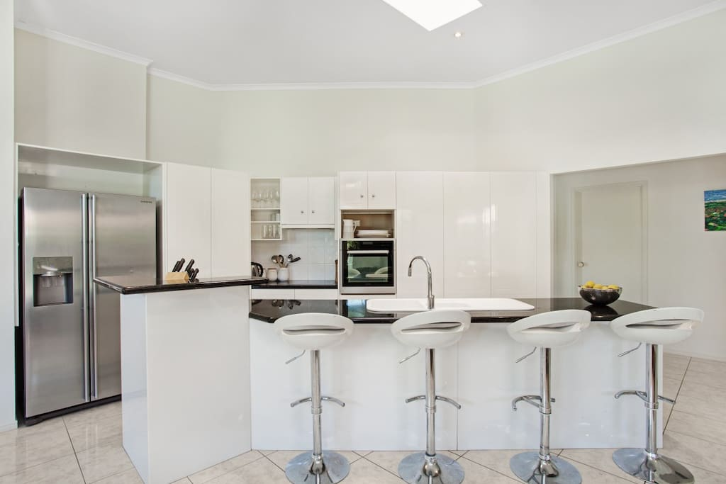 Fully self contained modern kitchen.