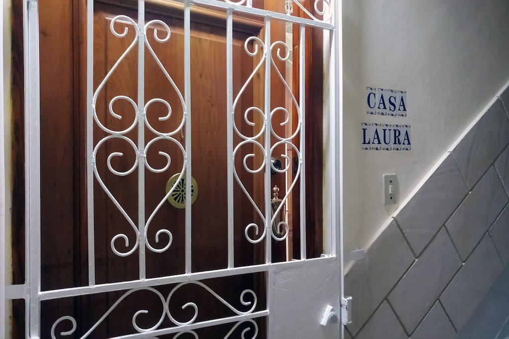Entrance door of the apartment