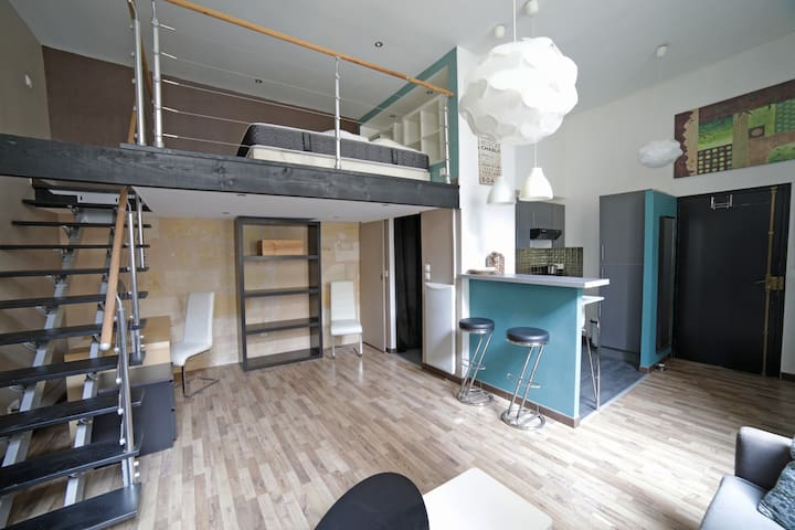 Design apartment in the main street of Bordeaux.