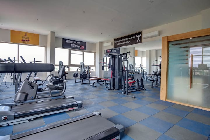 """""""The gym was the best!!! It was well equipped! Even had a vibration machine and sauna, like wow we had it all!! Shout out to Christopher the building manager and Emmanuel the security detail are supreme beings and are now family to us!"""" - April"""