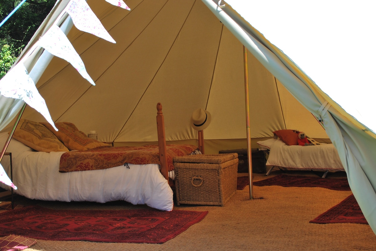 Luxury Bell Tents Near Bath, Wales | #terrific #different
