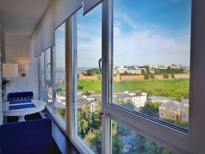 Лофт с видом на Кремль