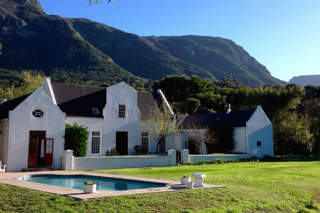 Base yourself at this Cape Dutch home near beaches, vineyards, and mountain trails.