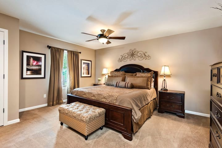 Every bedroom in this home is a Master featuring a King-sized bed