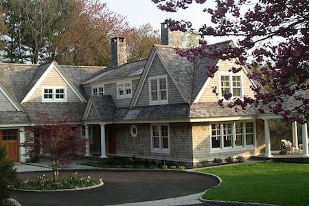 Elegant country home on secluded pond - New Canaan - Haus