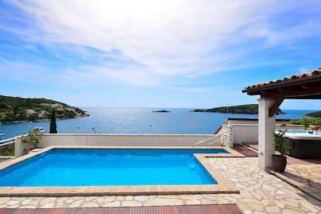 Sefront,pool & jacuzzi villa (6+2) - Molunat - Villa