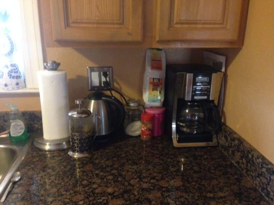 Plenty of coffee!