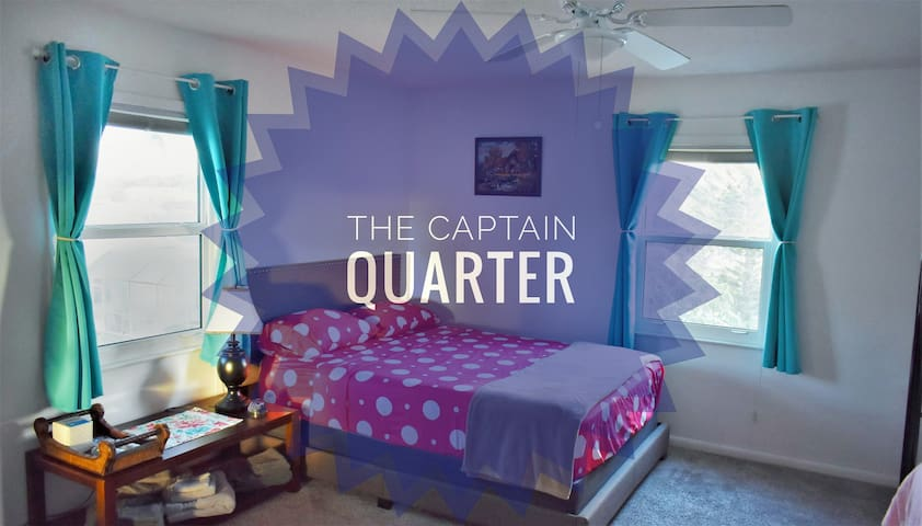 The Captain Quarter on the beach