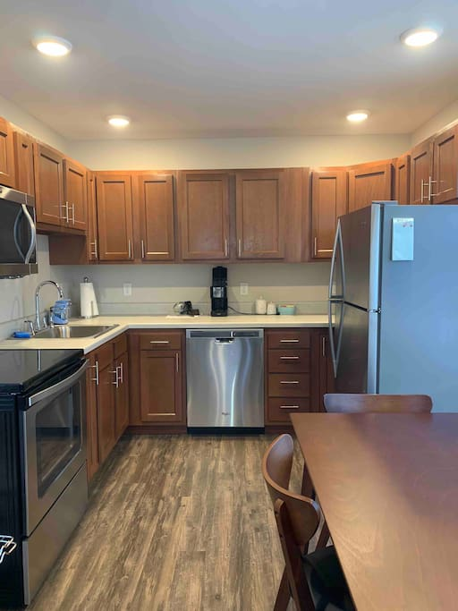 Brand new everything. Including stainless steel appliances so you can feast in comfort.