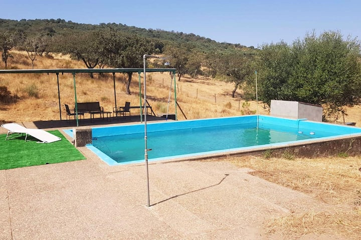 Villa with 5 bedrooms in Cumbres de San Bartolomé,, with wonderful mountain view, private pool and furnished garden