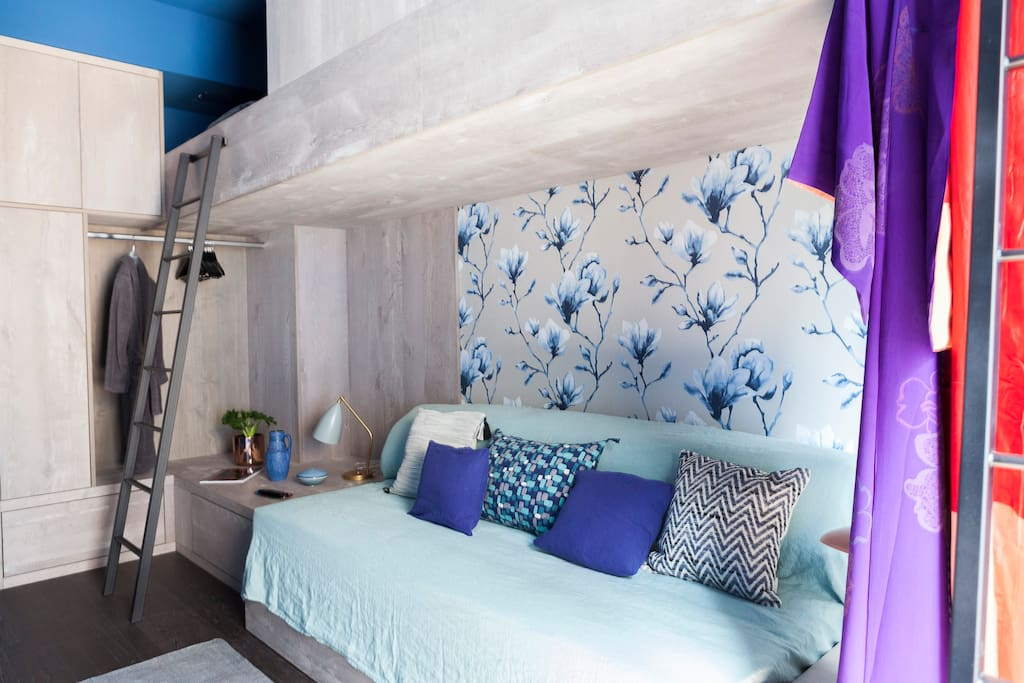 Bedroom 2 with double bed and two single beautiful bunkbeds
