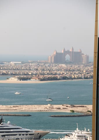 Partially Atlantis, palm jumeirah(man made island) view