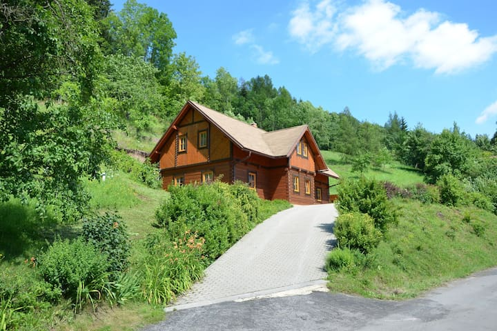 Spacious and comfortable chalet on the south slope of the mountain Kozakov