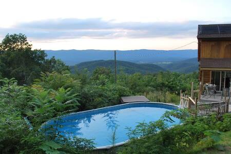 Log Cabin, *Pool, Hot Tub* Views, Views, Log Fires