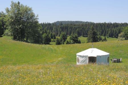 Séjour insolite en yourte dan le Jura - La Pesse - Yurt