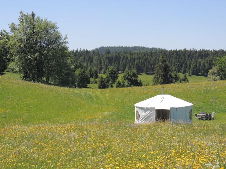 Séjour nature et bien-être en yourte dans le Jura