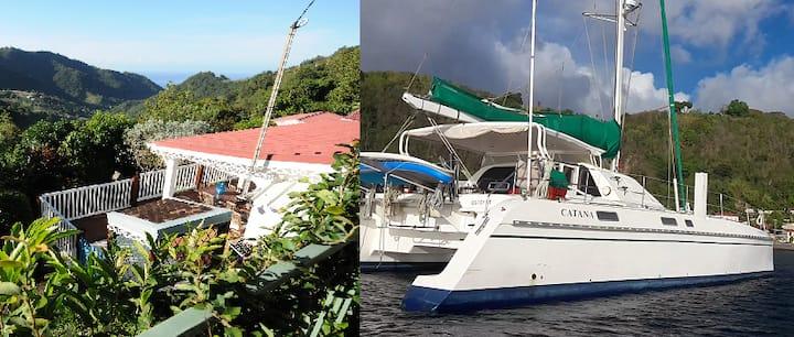 Villa ou Kaban dans les arbres ou cabine catamaran