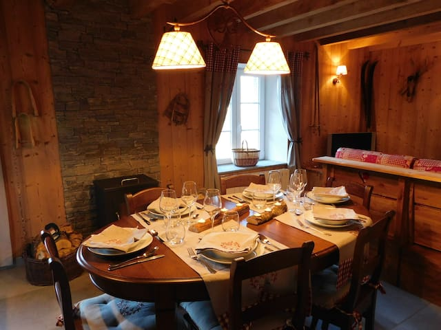 MAGNIFIQUE APPARTEMENT DECORE STYLE CHALET - La Bresse - บ้าน