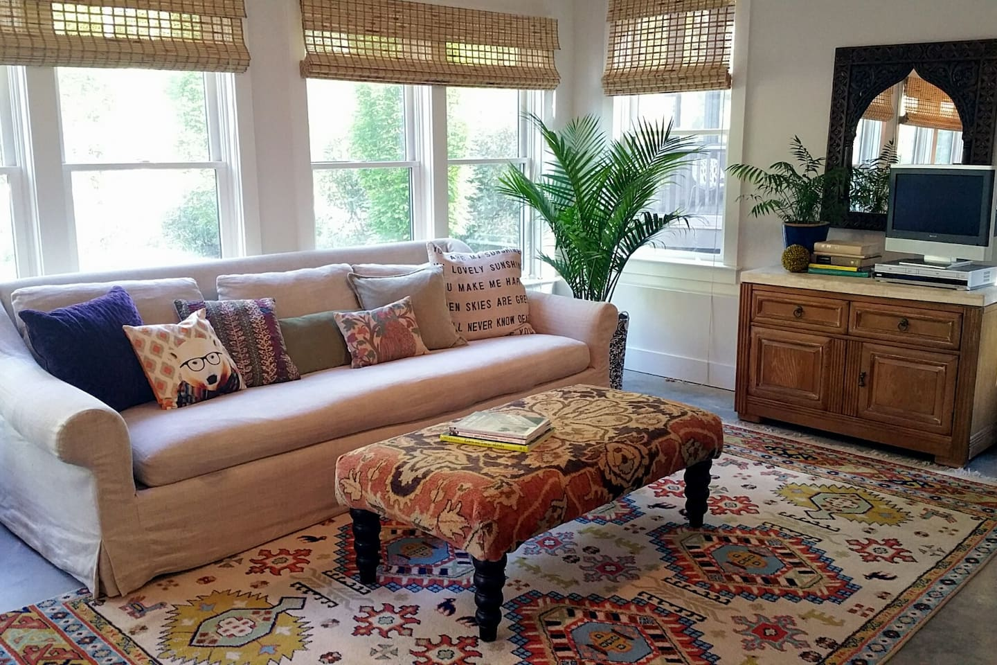 Restoration Hardware sofa has one long firm cushion that can be made up for 1-2 children...