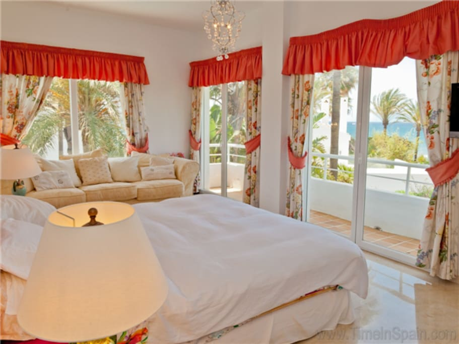 Master bedroom with terrace and sea views