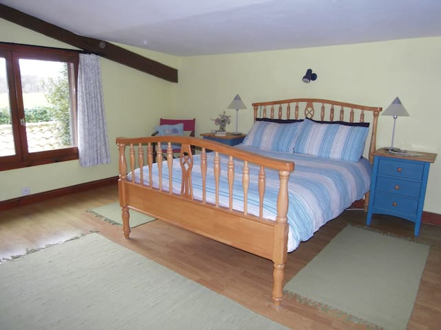 Double Bedroom in Detached Farmhouse with Pool - Lésignac-Durand - House