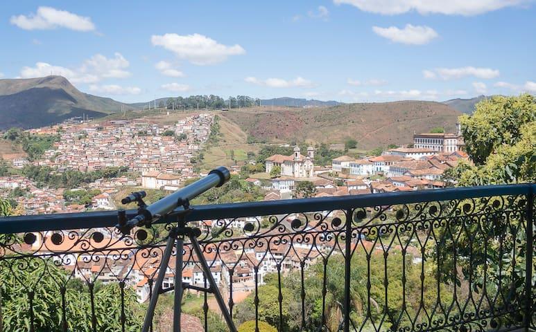 Vista fascinante no centro de Ouro Preto