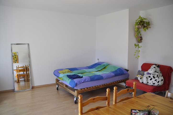 living zone with double bed
