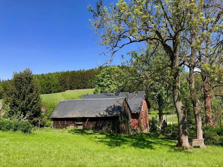 Landhaus inmitten von ganz viel Natur im Vogtland