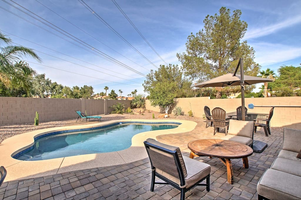 Enjoy sunny Arizona days and warm evenings on your private pool deck.