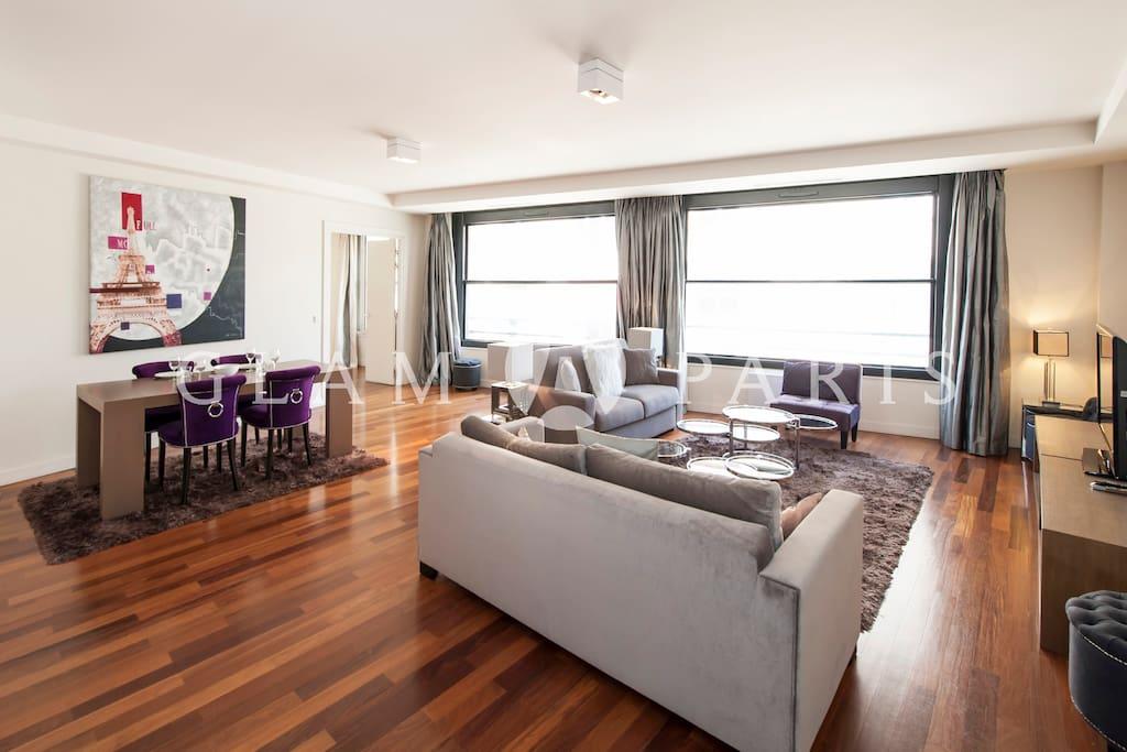 livig room - dining area
