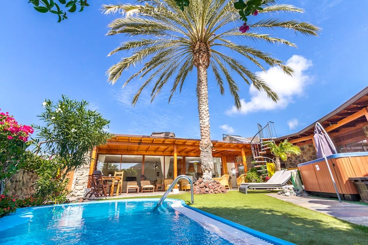 Anfi Tauro, Private Pool, Hot Tub in pretty garden