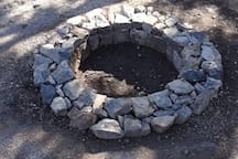 Private firepit. No firewood provided bit may be available for sale onsite