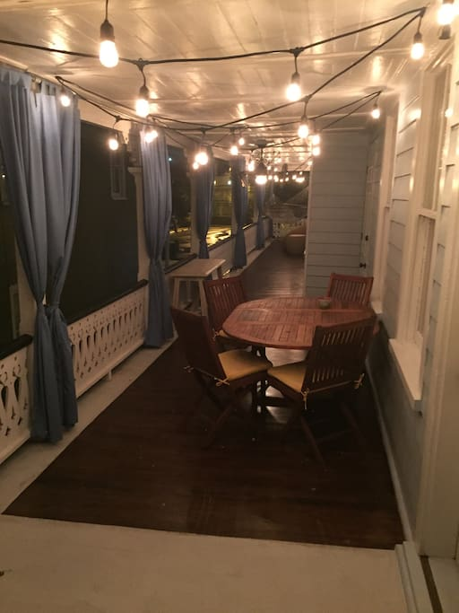 Outdoor Deck and eating area
